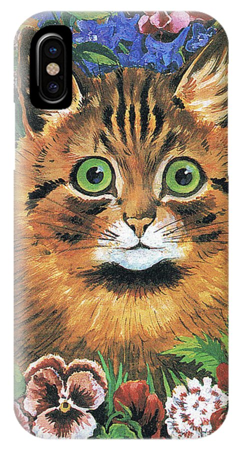 86f926cb3e7 Wain IPhone X Case featuring the painting Cat Study by Louis Wain