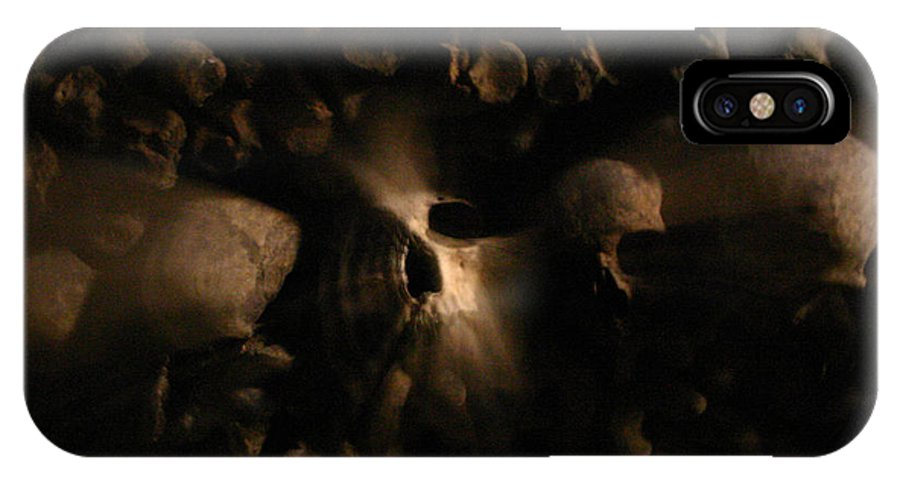 IPhone X Case featuring the photograph Catacombs - Paria France 3 by Jennifer McDuffie