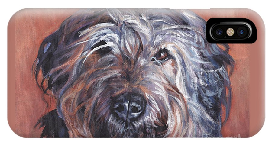 Catalan Sheepdog IPhone X / XS Case featuring the painting Catalan Sheepdog by Lee Ann Shepard