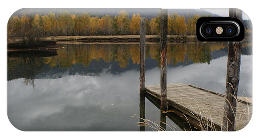 Cataldo IPhone X Case featuring the photograph Cataldo Reflections by Idaho Scenic Images Linda Lantzy