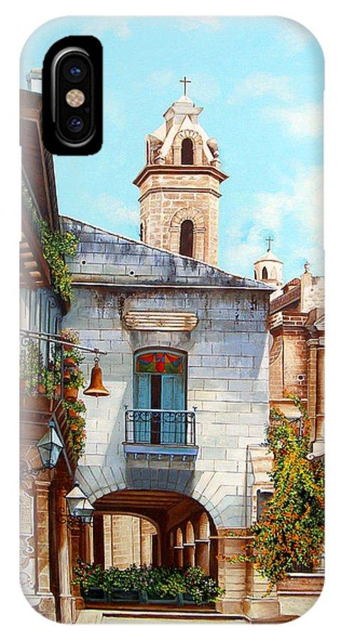 Catedral De La Habana IPhone X Case featuring the painting Catedral De La Habana by Dominica Alcantara