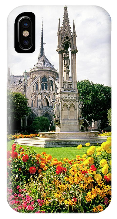 Cathedral IPhone X / XS Case featuring the photograph Cathedral Of Notre Dame by Buddy Mays