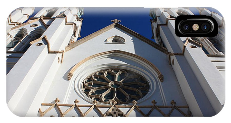 Cathedral Of St John The Babtist IPhone X Case featuring the photograph Cathedral Of St John The Babtist In Savannah by Carol Groenen