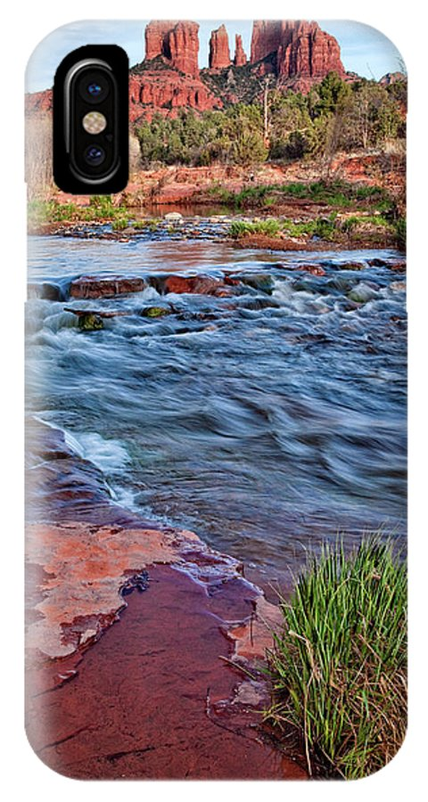 Sedona IPhone X Case featuring the photograph Cathedral Rock  by Diana Powell
