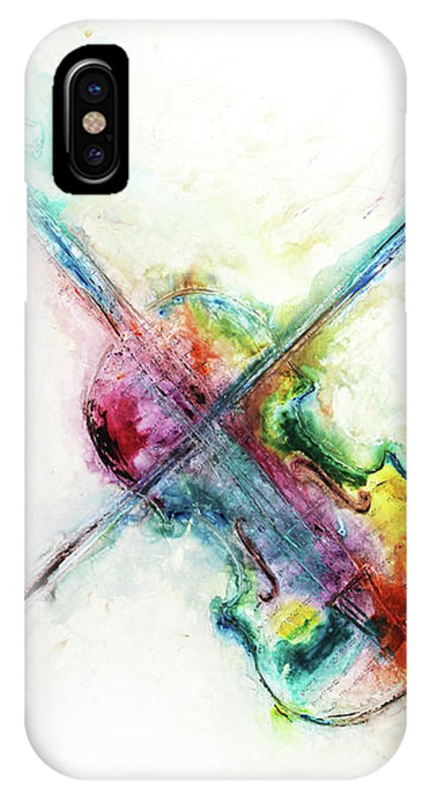Music IPhone X Case featuring the mixed media Cavatine by Ivan Guaderrama