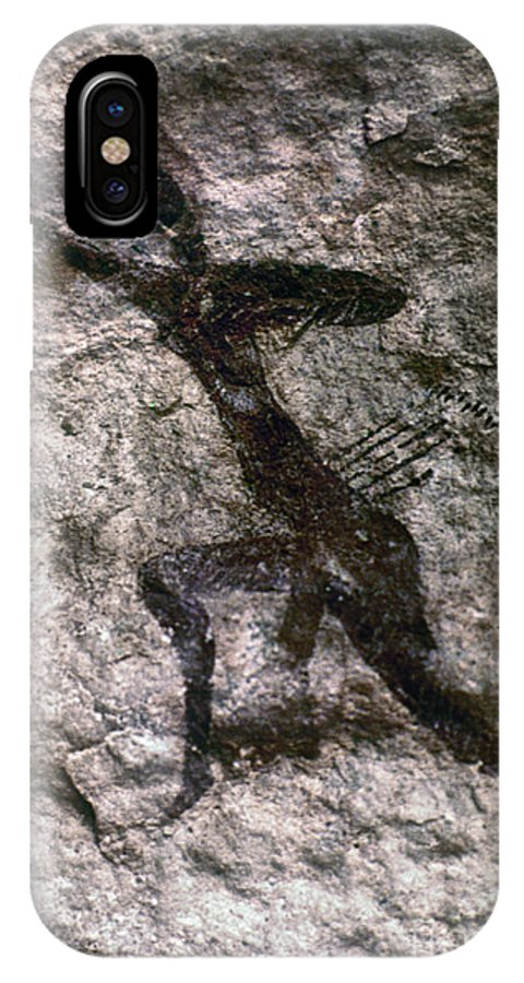 African IPhone X Case featuring the photograph Cave Art, Algeria by Granger