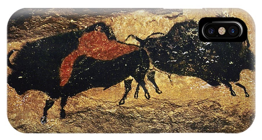 15000 IPhone X Case featuring the photograph Cave Art: Bison by Granger
