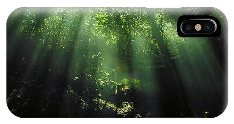 Scuba IPhone Case featuring the photograph Cave Diving In Mexico by Christine Till