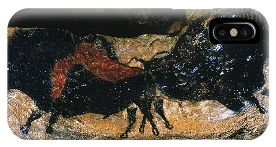 Buffalo IPhone X Case featuring the photograph Cave Drawing/lascaux by Granger
