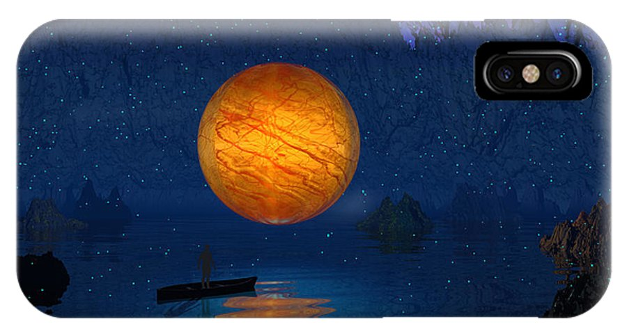 Space IPhone X Case featuring the photograph Cave Of Secrets by Mark Blauhoefer