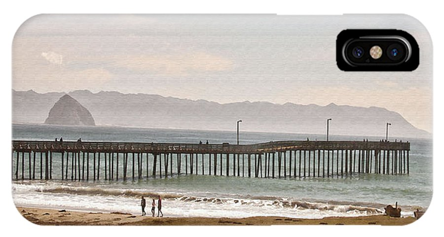 Pier IPhone X Case featuring the digital art Caycous Pier II by Sharon Foster