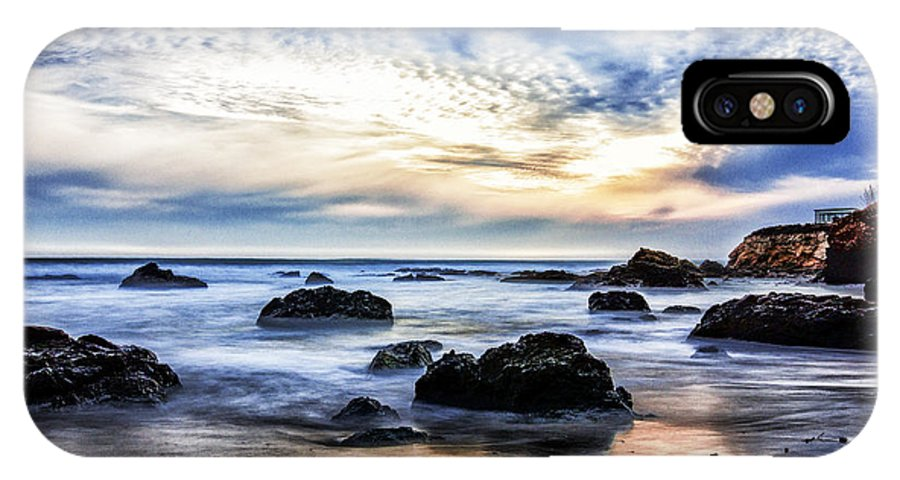 California IPhone X Case featuring the photograph Cayucos Quietude by Cheryl Strahl