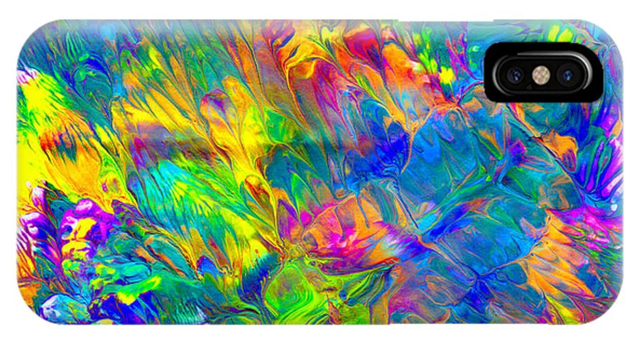 Abstract Art Print IPhone X Case featuring the painting Cc092 by John Kohn