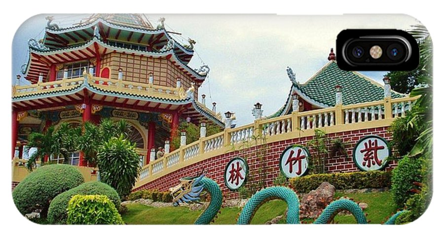 Situated In The Beverly Hills Subdivision In Cebu City IPhone X / XS Case featuring the digital art Cebu Taoist Temple by Benjie Cuevas
