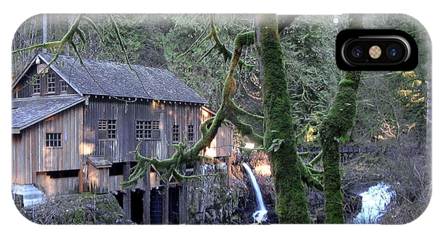 Landscape IPhone X Case featuring the photograph Cedar Creek Grist Mill by Larry Keahey