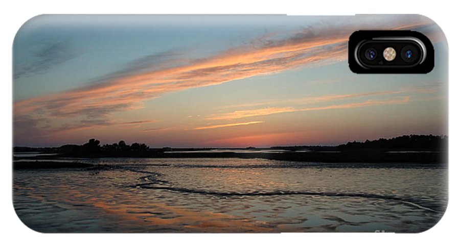 Sunset IPhone X Case featuring the photograph Cedar Key Sunset 2 by Kathi Shotwell