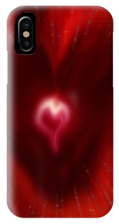 Hearts IPhone X Case featuring the digital art Celebrate Love by Linda Sannuti