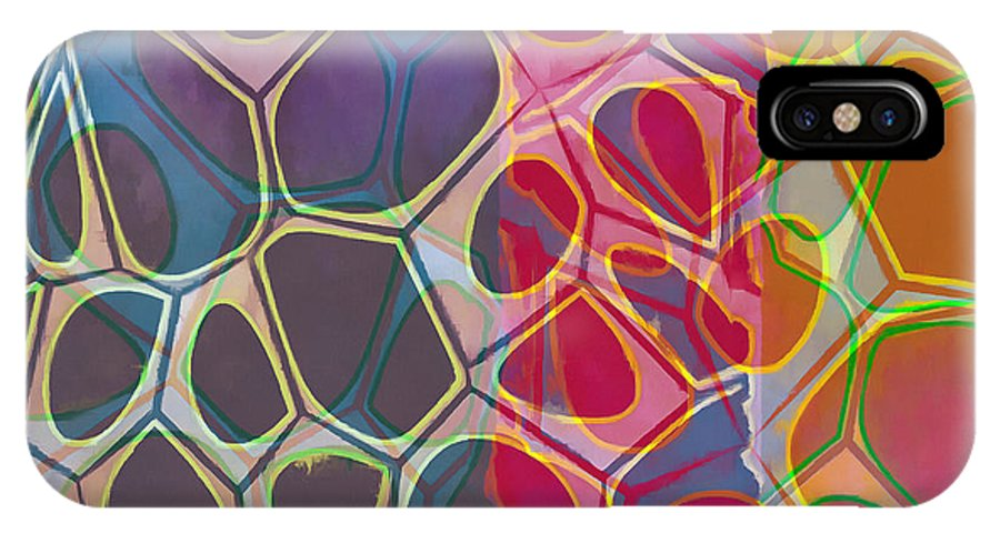 Painting IPhone X Case featuring the painting Cell Abstract 11 by Edward Fielding