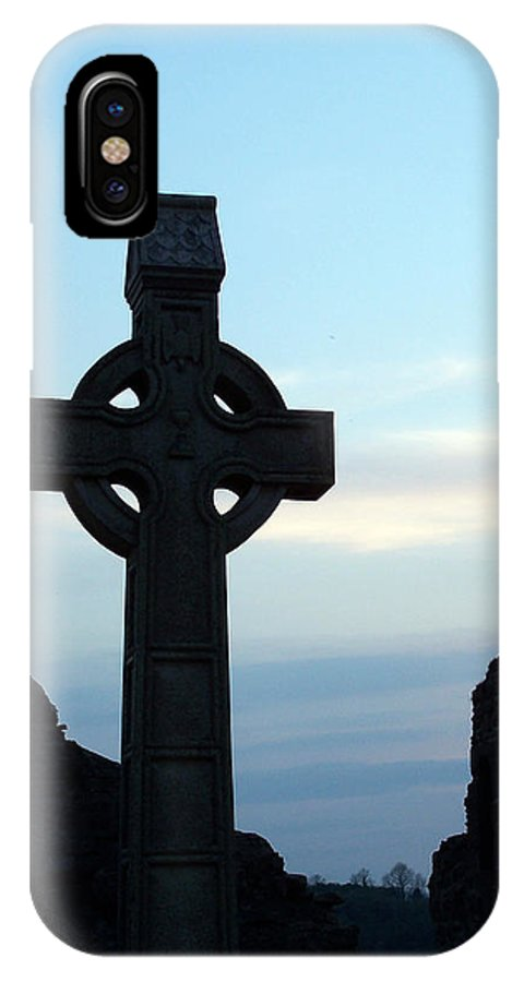 Irish IPhone Case featuring the photograph Celtic Cross At Sunset Donegal Ireland by Teresa Mucha