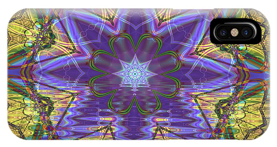 Abstract IPhone Case featuring the digital art Celtic Knot by Frederic Durville