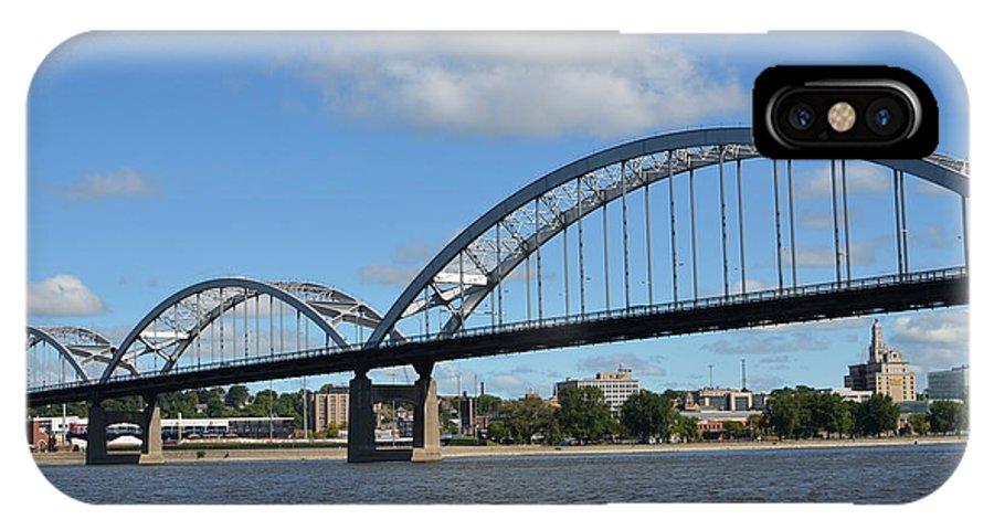 Rock Island Centennial Bridge IPhone X Case featuring the photograph Centennial Spans by Tammy Mutka