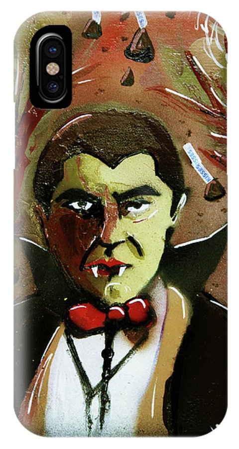 Count Chocula IPhone X Case featuring the painting Cereal Killers - Count Chocula by eVol i