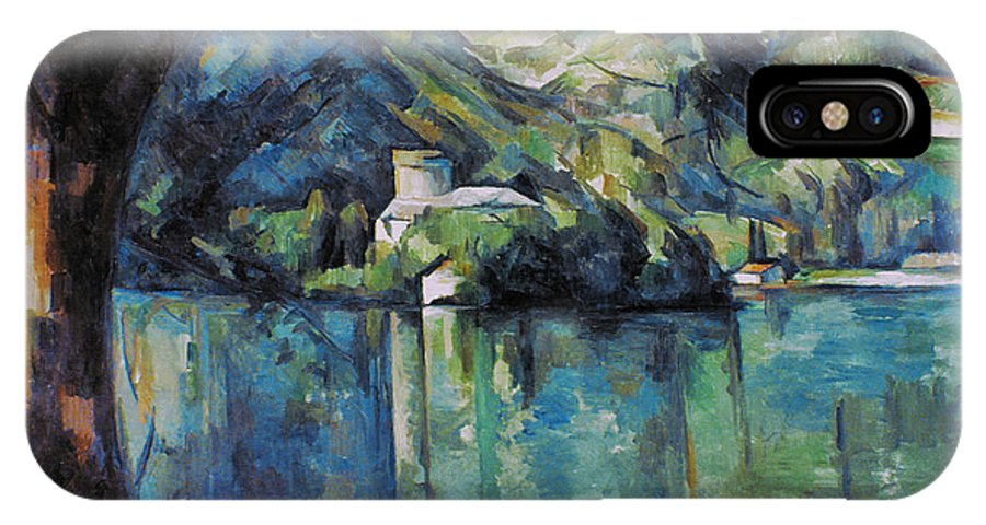 1896 IPhone X Case featuring the photograph Cezanne: Annecy Lake, 1896 by Granger