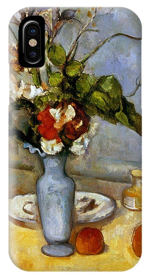 19th Century IPhone X Case featuring the photograph Cezanne: Blue Vase, 1885-87 by Granger