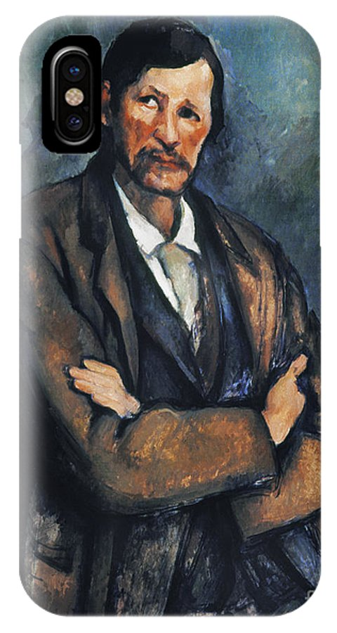 1899 IPhone X Case featuring the photograph Cezanne: Man, C1899 by Granger