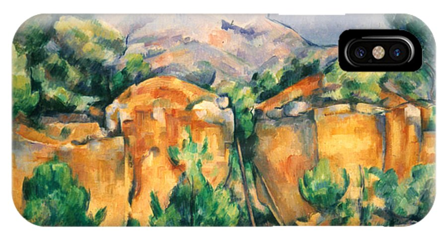 1898 IPhone X Case featuring the photograph Cezanne: Sainte-victoire by Granger