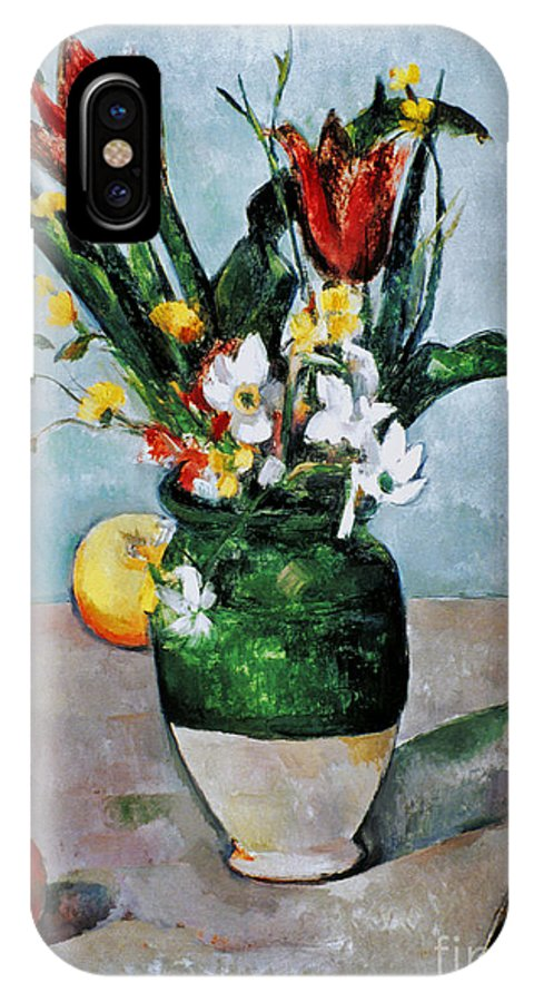 1892 IPhone X Case featuring the photograph Cezanne: Tulips, 1890-92 by Granger