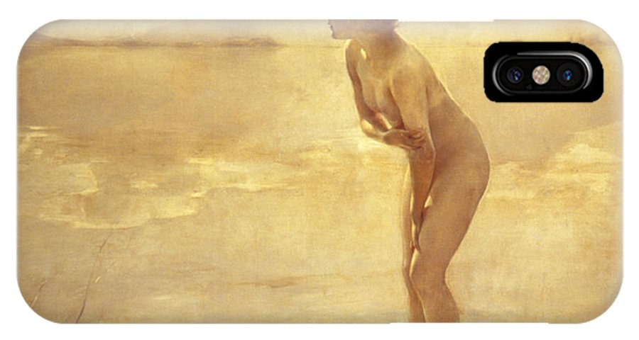 20th Century IPhone X Case featuring the painting September Morn by Paul Chabas