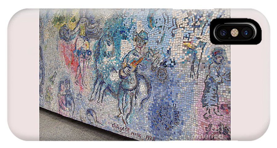Chicagoland IPhone X Case featuring the photograph Chagall Chicago Mosaic by Ann Horn