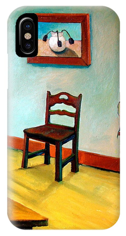 Apartment IPhone X Case featuring the painting Chair And Pears Interior by Michelle Calkins