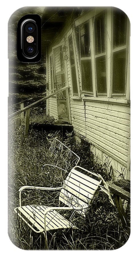 Chair IPhone X Case featuring the photograph Chair in grass by Perry Webster