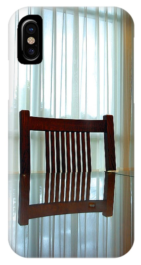 Chair IPhone Case featuring the photograph Chair Reflection by Steve Somerville