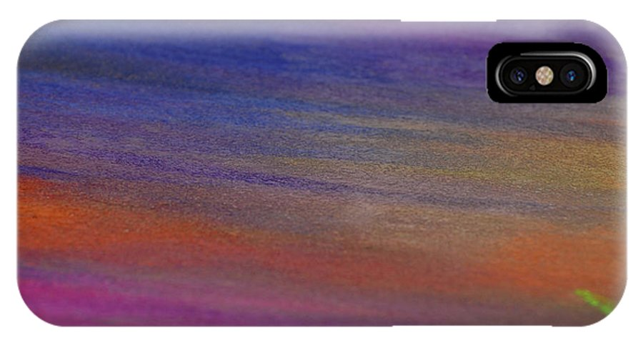Abstract IPhone X Case featuring the photograph Chalk Art Abstract by Jean Booth