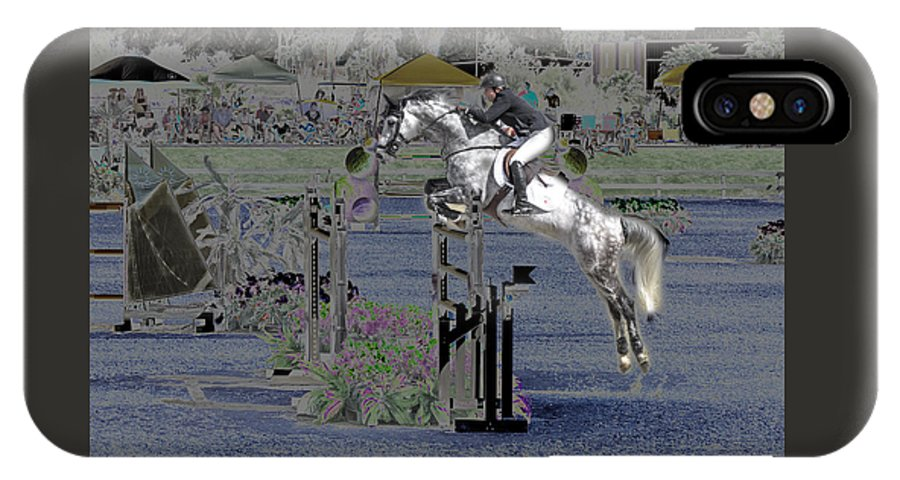 Horse IPhone X Case featuring the photograph Champion Horse Jumper by Bette Levine