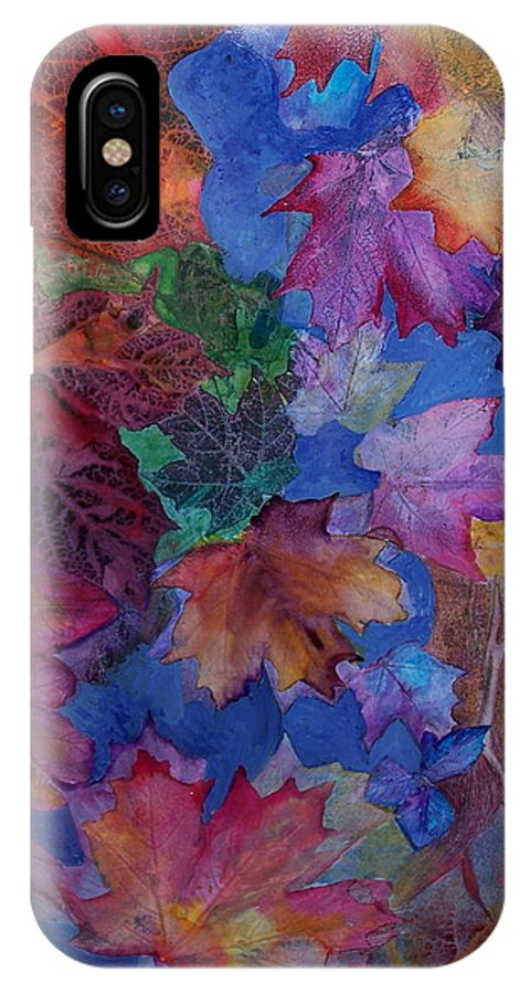 Leaves IPhone Case featuring the mixed media Chaos In The Brain by Vijay Sharon Govender