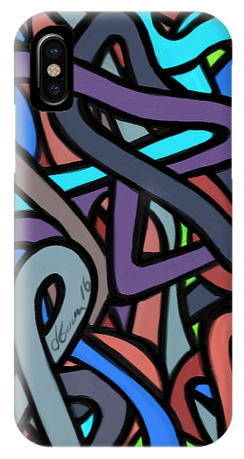 IPhone X Case featuring the painting Chaos Theory by Jeanie Goins