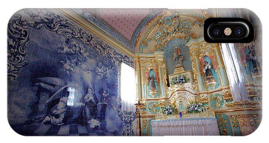 Fenais Da Ajuda IPhone X Case featuring the photograph Chapel In Azores Islands by Gaspar Avila