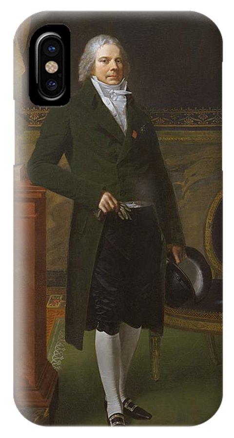 Pierre Paul Prud'hon Charles Maurice De Talleyrand Prigord 17541838 Prince De Talleyrand IPhone X Case featuring the painting Charles Maurice De Talleyrand Prigord 17541838 Prince De Talleyrand by Pierre Paul Prud'hon