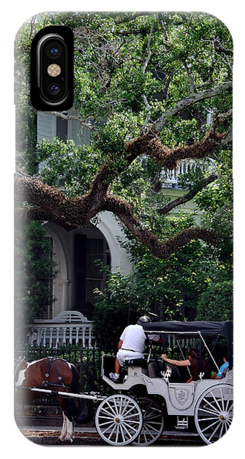 Charleston IPhone X Case featuring the photograph Charleston Buggy Ride by Skip Willits