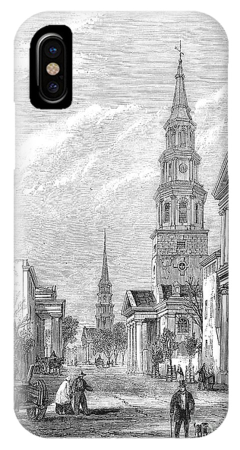 1861 IPhone X Case featuring the photograph Charleston: Church, 1861 by Granger