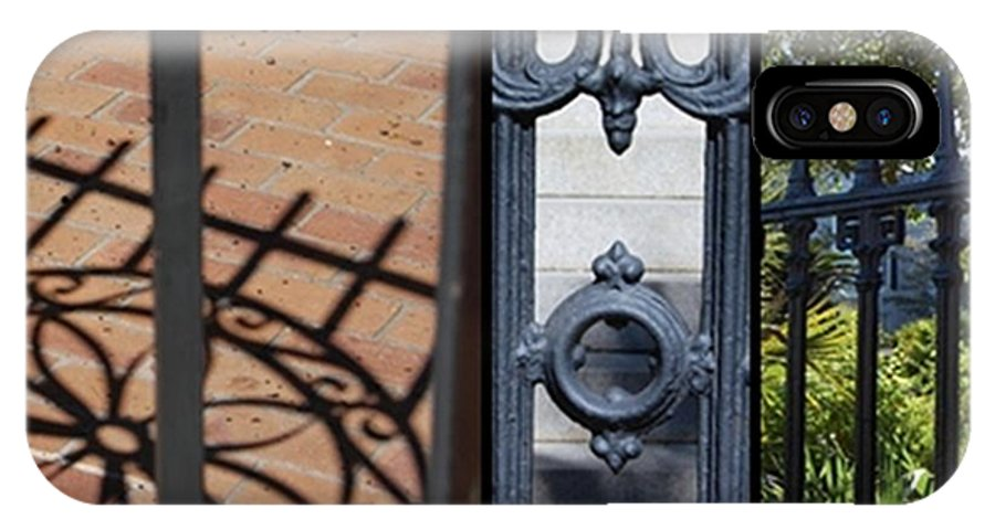 Charleston Gate IPhone X / XS Case featuring the photograph Charleston Gates by Donna Bentley