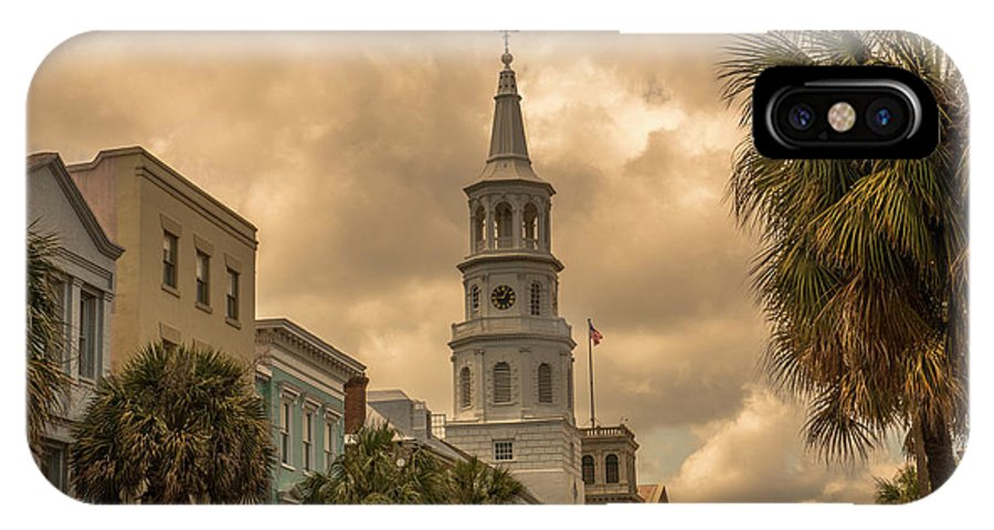 Church IPhone X Case featuring the photograph Charleston Light by Dale Powell
