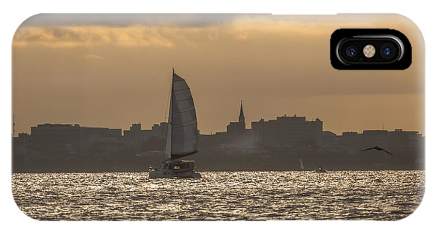Charleston IPhone X Case featuring the photograph Charleston Sailing by Dale Powell