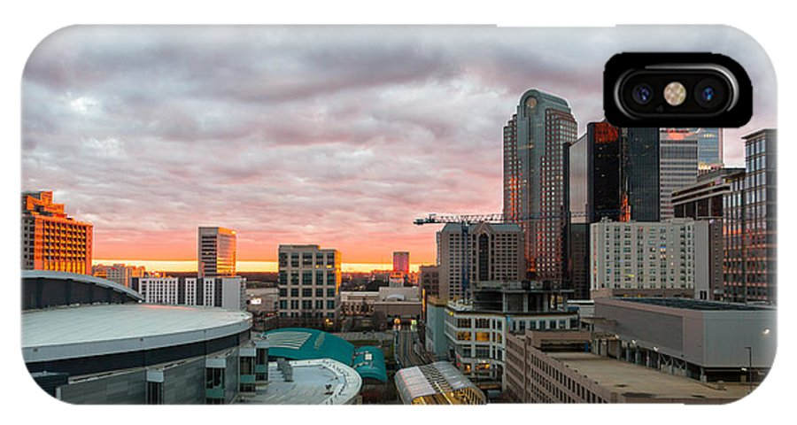 Charlotte IPhone X / XS Case featuring the photograph Charlotte Sunset by Gregory Hurst