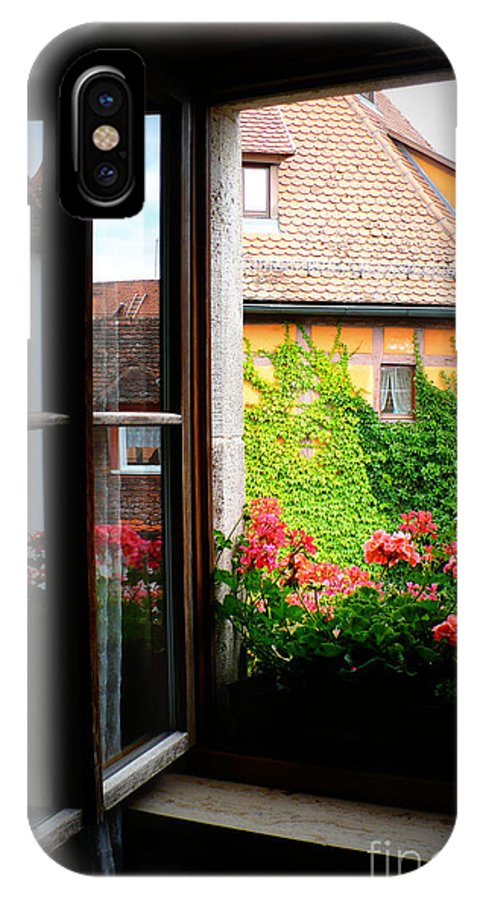Europe IPhone X Case featuring the photograph Charming Rothenburg Window by Carol Groenen