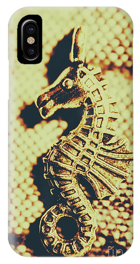 Seahorse IPhone X Case featuring the photograph Charming Vintage Seahorse by Jorgo Photography - Wall Art Gallery